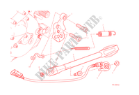 CAVALLETTO LATERALE per Ducati Monster 1200 2015